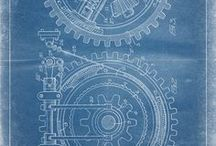 INDUSTRIAL PRINTS / Celebrating the beauty of industrial design as art with authentic, historical, vintage industrial patent prints & posters. | steampunk prints, industrial decor, industrial painting, rustic decor, vintage decor, wall art.
