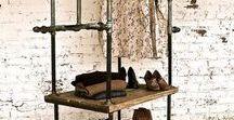 RACK Industrial Prints / Beautiful rustic-looking clothes racks. | loft, clothe racks, rack, rack DIY, steampunk prints, industrial decor, industrial painting, rustic decor, vintage decor, wall art. 10% off at industrialprints.com today!
