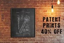 RUSTIC HOME Industrial Prints / Celebrating the beauty of industrial design as art with authentic, historical, vintage industrial patent prints & posters. | steampunk prints, industrial decor, industrial painting, rustic decor, vintage decor, wall art, 10% off at industrialprints.com today!