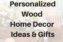 Personalized Wood Home Decor & Gifts / Thirtyone's close to home collection features serving trays, caddies, and decor boxes. These beautiful, yet useful home decor items add a personal touch to any home. Choose from one of our many laser etching designs to create a gift that is one of a kind. #canadianbaglady #thirtyone #woodgifts #closetohome