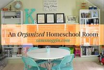 Organize your homeschool space / Whether you have a corner bookshelf or an entire room dedicated to homeschooling, organization can help you keep your sanity intact.
