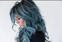 Style || Blue Hair / Hairspiration for my inner mermaid. Re-pins of dyed blue hair, blue balayage, rainbow hair, unicorn tails, fairy tale braids, electric blue hair styles and general badass blue-haired bitches.