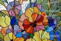 Art-ÜVEGDISZÍTÉS--STAINED (Festett) / Festett üveg tárgyak