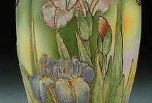 P-Coralene & Scenic Nippon (Japán) / Égetett minta és kézzel festett termékek