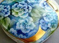 P- Hortenzia / porcelánok