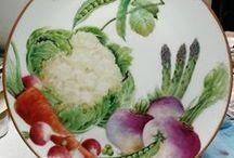 P-Zöldséges porcelánok / zöldség,