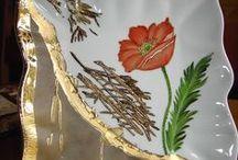 P-Rot,fleurs-(poppies)&....... / piros,pipacs, virágos dísztárgyak