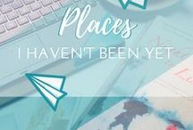 Travel || Places I Haven't Been Yet / So many places, so little time! All the places on my impossibly long travel bucket list! Blog posts that serve as travel inspiration for amazing destinations I hope to visit one day.
