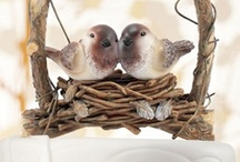 Theme: Love Birds Wedding / A love birds #wedding theme is a cute way to display your affection towards each other. Here are some fun ideas ranging from love birds cake toppers, wedding favors, decorations, and more.
