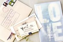 Ideas: Invitations/Programs / Wedding #invitations and programs are one of the important factors of your #wedding, and it's important to make them uniquely you with your personalities displayed. Here is some inspiration for your stationery.  / by Wedding Favors Unlimited