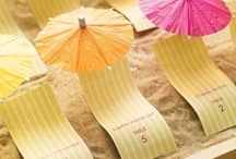 Theme: Summer Weddings / Planning a summer #wedding? Here is some inspiration for decorations, colors, ceremony ideas, favors and lots more. #summerwedding