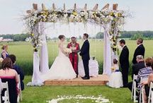 Theme: Outdoor Weddings / Looking for inspiration for planning an outdoor #wedding? You have come to the right place. Lots of ideas for your big day.