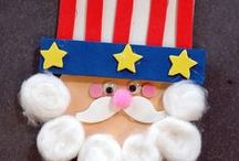 *Kid Friendly - Patriotic Ideas / Patriotic crafts, recipes, and fun food treats for all ages - Fourth of July, Labor Day, Memorial Day, and more!
