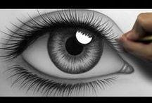 Drawing - Eyes (Cartoon & Real)