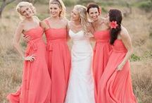 Color: Coral Weddings / Coral Wedding Ideas - find tons of clever and beautiful ideas for your coral theme/color scheme! #coralweddings / by Wedding Favors Unlimited