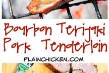 Recipes - Pork / Recipes for all types of pork including pork chops, pork roast, pulled pork, pork ribs, pork tenderloin and sausage.
