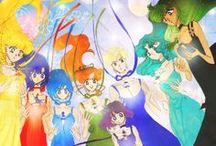 Sailor Moon Manga - Colored / These images are all original sailor moon manga artwork colored in by fans.