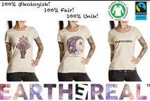 EARTHEREAL™ Organic and Fairtrade T-shirts / 100% Økologiske og Fair Trade T-skjorter!