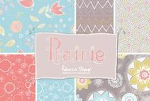 """Prairie / Immerse yourself in the inspiration behind the """"Prairie"""" collection. Vintage lace & crochet, summer meadows & lazy, sunny afternoons all provide the perfect back drop for this bohemian collection of delicate, hand drawn prints. Fabric collection available exclusively at Dashwood Studio http://www.dashwoodstudio.com/ from Spring 2014"""