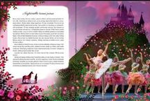 Baletin tähti / My illustrations from the book The Star of the Ballet / Baletin tähti in Finnish
