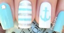 Summertime Manicures / Manicures with a sunshiny, beachy, summer theme!