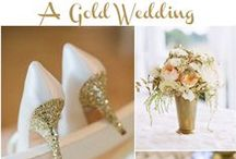 Gold Wedding Ideas / Sprinkling your wedding with a fancy color that never gets out of style; Have yourself a beautiful Gold wedding!