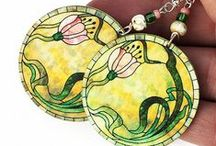 Decoupage jewellery