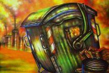 Trip Art (Visioni post-nucleari) / My painting