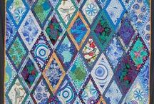Quilting Arts--Traditional with a Twist / Art for walls and beds, but with a twist on the traditional.  By Sara Schechner.