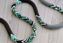 Beaded crochet ropes