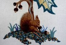 Crewel Work and Cross Stitch