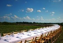 Outstanding Tables / From beach dinners in Santa Cruz, CA to tables set between rows kale and red lettuce in Perkasie, PA our tables invite everyone to sit together at one table.  Cheers to the farmers, winemakers, ranchers, brewers, foragers, beekeepers, fishermen and women, butchers, and cheesemakers who sit down at our tables and share their bounty at our farm dinners.