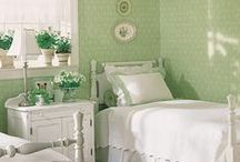 Decor ideas / mostly cottage,not too frilly, just clean lines, and pretty. / by Trish Barron