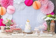 Sweets tables and candy bars
