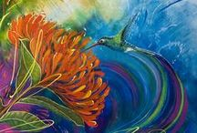 Humming Birds Images and Humming Birds paintings by Susan Farrell art
