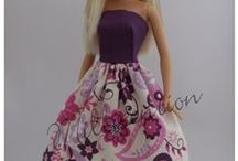 "Handmade ""Belly button Barbie"" doll clothes"