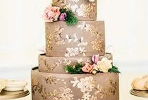 Big Day Beautiful Wedding Cakes / #WeddingCake Trends from Glamorous, to traditional, to boho, shabby chic, and uniquely creative / by Laughing Cherries