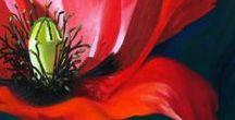Macro Flowers Paintings