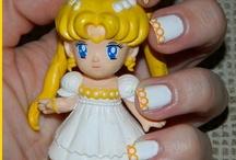 Reto Sailor Moon / Manicuras del reto Sailor Moon que podéis ver en mi blog: http://mispotingadasymas.blogspot.com.es/