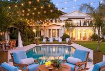 Luxurious Outdoor Spaces / Take inspiration from these high end luxurious front and backyard spaces / by Moon Glow Lightscapes