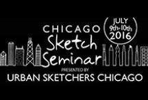 2016 Sketching Seminar / July 2016 in Chicago! Learn and sketch with Urban Sketchers Chicago!