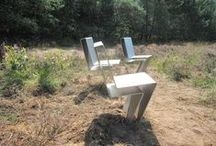 buiten meubilair / banken en stoelen geschikt voor buitengebruik