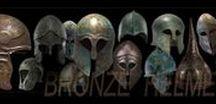 Bronze helmets / архаичное вооружение.