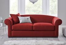 Red Interior Inspiration / Bedroom and living room design ideas to add a touch of warming red tones into your home.