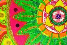 Mandala art :multicolor Mandala / paintings