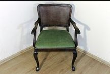 Fotel / Chair / Fotel przed i po renowcji / Chair before and after renovation