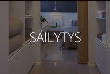 SÄILYTYS / Säilytysratkaisuja suuriin ja pieniin asuntoihin.
