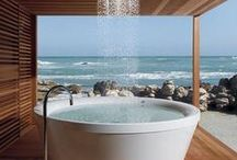 Bathrooms With A View / Bathrooms that feature a wonderful view outside.