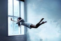 Dreamy, Floating Art Photography / Dreamy, Surreal, underwater, Float, Floating, fairy tale , lévitation  Art photography, underwater photography, photo manipulation, clouds, levitation / by BB TAR