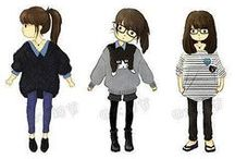 KOREAN FASHION / Korean style.  Vetements à la mode. 사랑해.